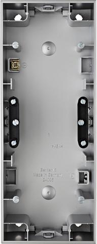 Коробка на 3 поста для наружного монтажа. Цвет Алюминий. Berker (Беркер). K.5. 10437003