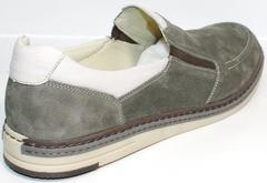 Стильные мокасины мужские IKOC 3394-3 Gray.