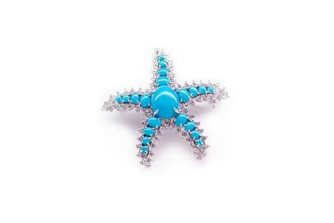Изысканная брошь Морская звезда от N.