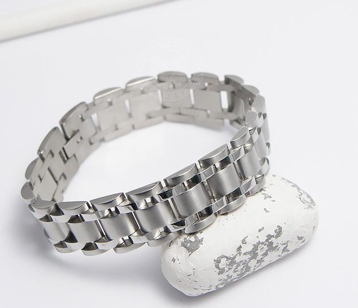 BM479 Широкий браслет из ювелирной стали (21 см) фото 05