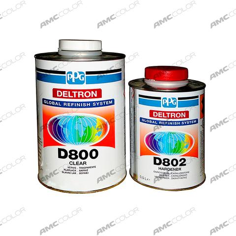 Лак PPG Deltron D800+D802  компл. (1л+0,5л)
