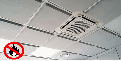 негорючий акустический потолок  600x600