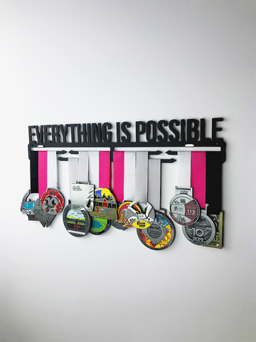 Медальница Everything is possible (черный)
