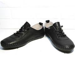 Мокасины женские на шнурках Evromoda 115 Black
