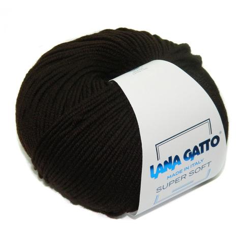 Пряжа Lana Gatto Supersoft 10053 темный шоколад