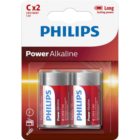 Батарейки Philips Power Alkaline LR14, C (2/24) BL