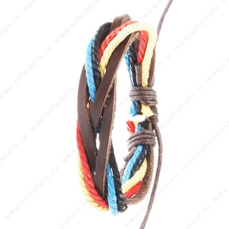 Браслет на руку кожаные шнурки