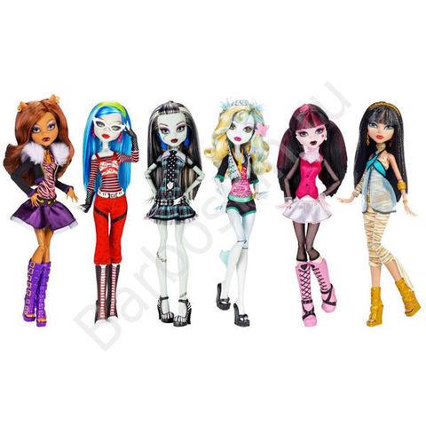 Набор из 6 Базовых кукол Monster High Перевыпуск 2015 - Original Ghouls Collection, Mattel