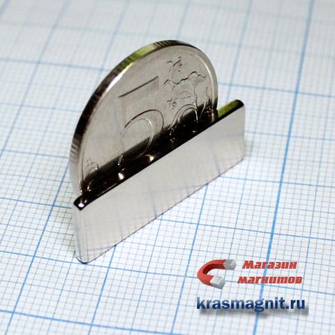 Неодимовый магнит (призма) 30х10х2 мм (Высокотемпературный)