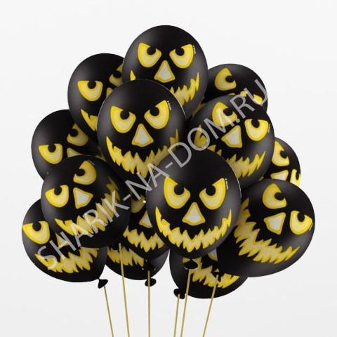 """Хэллоуин Черные шарики """"Зловещая тыква"""" Шары_Чёрные_тыквы.jpg"""