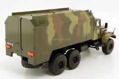 KRAZ-255 KUNG (box body) military camouflage SarAvto Agat 1:43