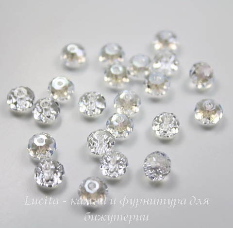 5040 Бусина - рондель с огранкой Сваровски Crystal Moonlight  6 мм ()