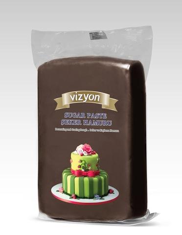 Мастика сахарная коричневая Vizyon, 0,5 кг