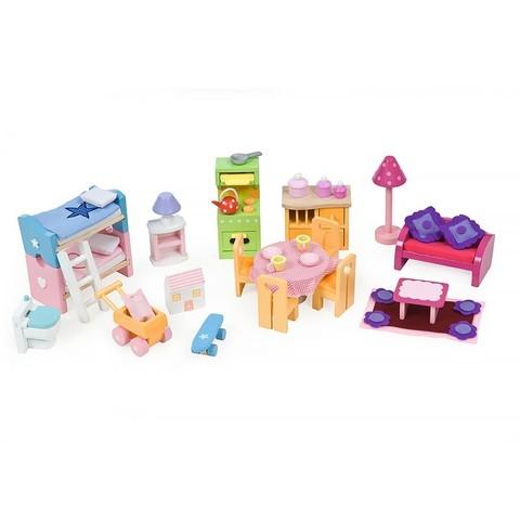 Кукольная мебель Базовый набор Люкс, 35 предметов, Le Toy Van