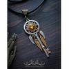 "Подвеска ""Перо"" 29х5 мм (цвет - античное золото) (Кулон ""Ключ"". Пример)"