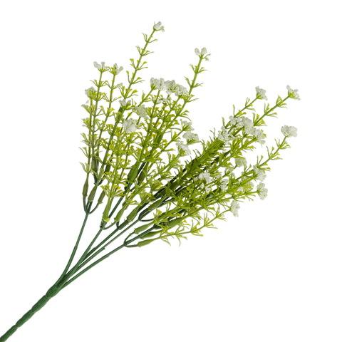 Цветок искусственный с белыми соцветиями, 31см