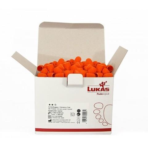 Колпачок подологический Lukas d 10 мм, мелкая крошка 320 грит (50 штук - 1 коробка)