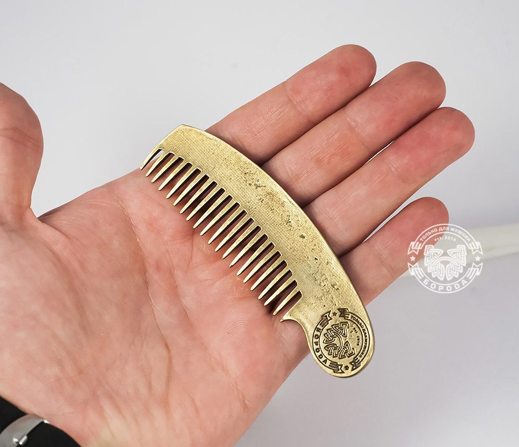 RAZ171-2 Классная фирменная расческа из бронзы фото 06