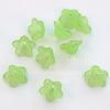 Бусина акриловая Цветочек светло-зеленый 13х7 мм, 10 штук