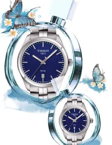 Купить Парные часы TISSOT PR 100: T101.410.11.041.00 и T101.210.11.041.00 по доступной цене