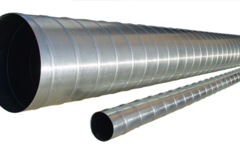 Труба спирально-навитая D 160 (3 м) оцинкованная сталь