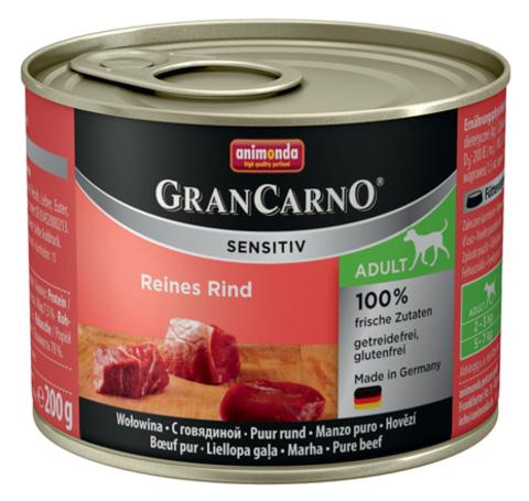 Консервы Animonda Gran Carno Sensitiv c говядиной для собак с чувствительным пищеварением