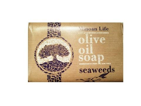 Оливковое мыло Minoan Life seaweeds Olive Oil Soap