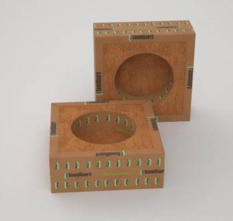 SoundGuard IzoBox 1 130х130х48 мм Звукоизоляционный подрозетник односекционный