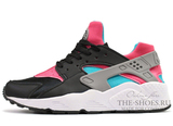 Кроссовки Женские Nike Air Huarache Black Pink Blue
