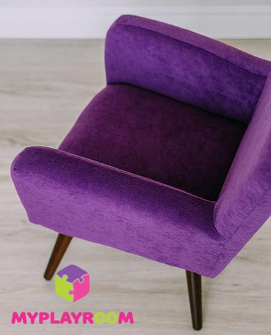 Детское стильное кресло в стиле 60-х, ультрафиолетовый 5