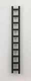 Дизайн-радиатор электрический чёрный Quadro-11