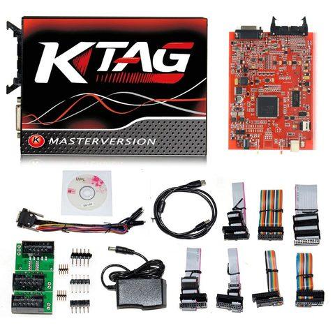Программатор ЭБУ K-TAG ECU Master 7.020 красная плата