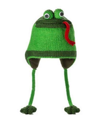 шапка с ушами Knitwits Fergie the Frog
