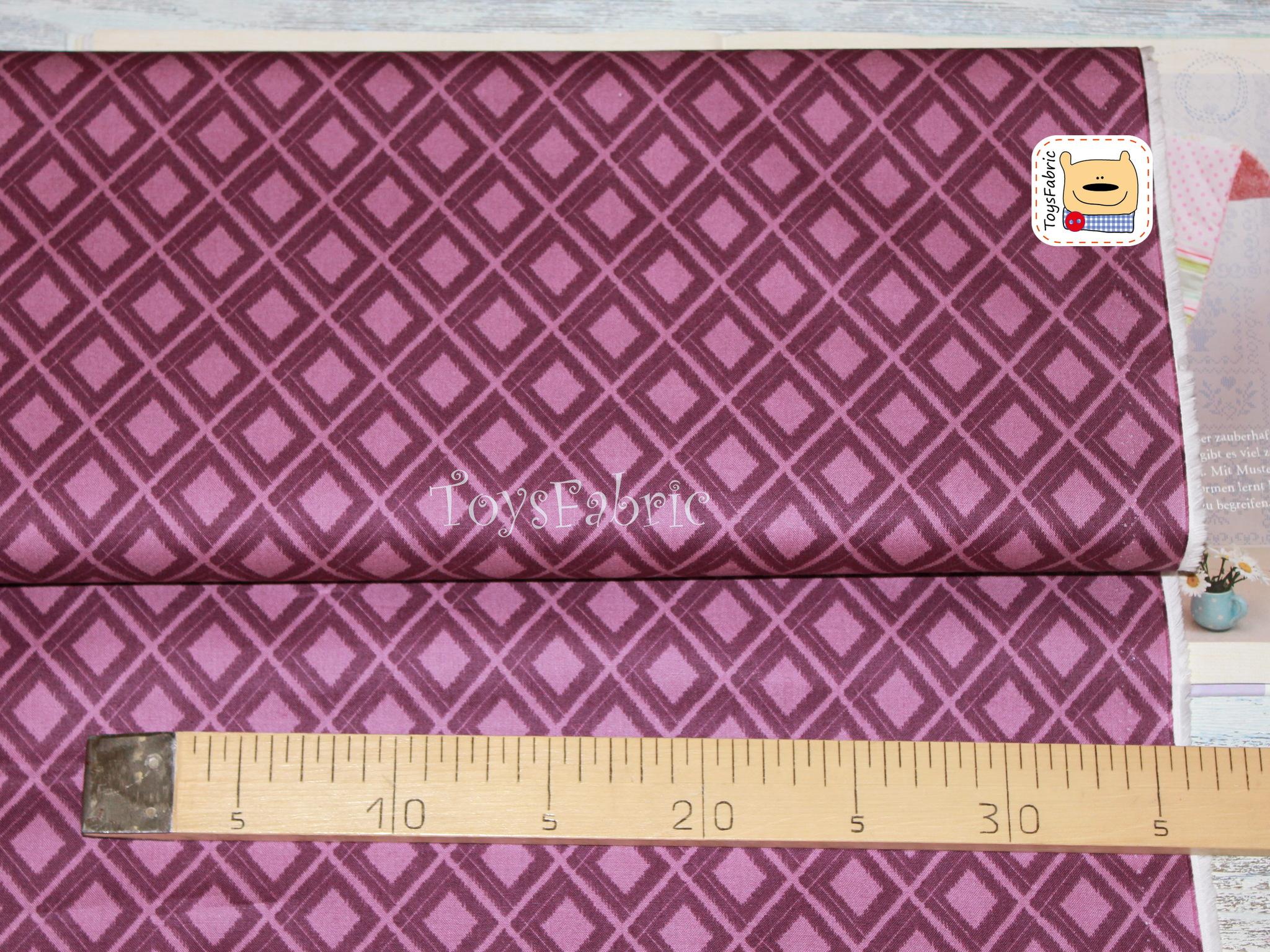 Ткань для пэчворка 20620 (ромбы на фиолетовом) 45х55см