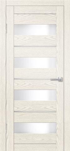 Дверь Дверная Линия ДО-Трис, стекло снег, цвет крем, остекленная