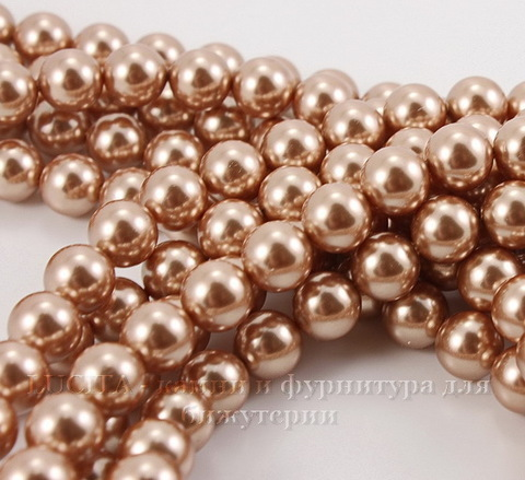 5810 Хрустальный жемчуг Сваровски Crystal Rose Gold круглый 12 мм ()