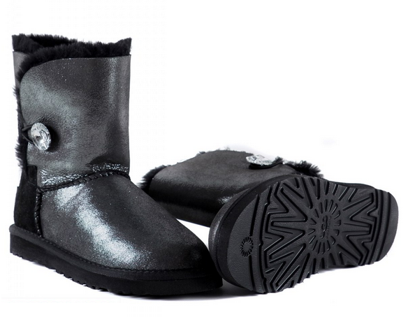 UGG Bailey Button I Do Sheepskin Black