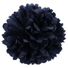 Помпон из бумаги 40 см черный