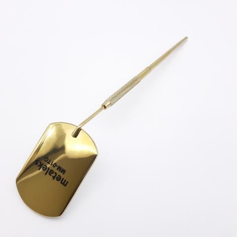 Зеркало для наращивания ресниц, титан/золото, MM-01TG