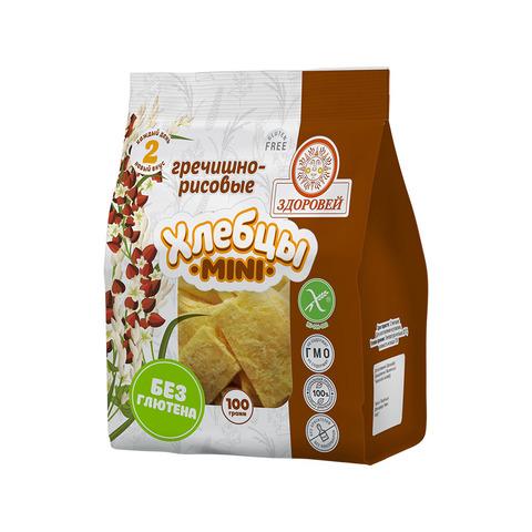 Здоровей, Хлебцы mini гречишно-рисовые, 100гр