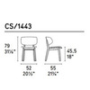 Calligaris CS_1443 P16W S03 — Стул CLAIRE