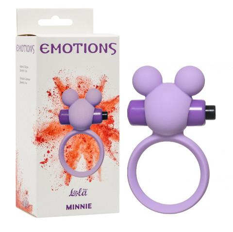 Силиконовое эрекционное кольцо с вибрацией, Lola Toys, Emotions Heartbeat (4х7 см)