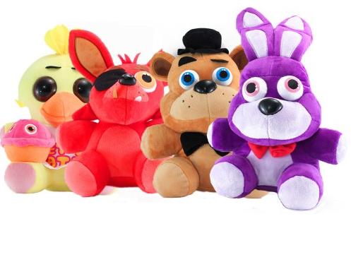 Набор мягких игрушек из пять ночей с Фредди