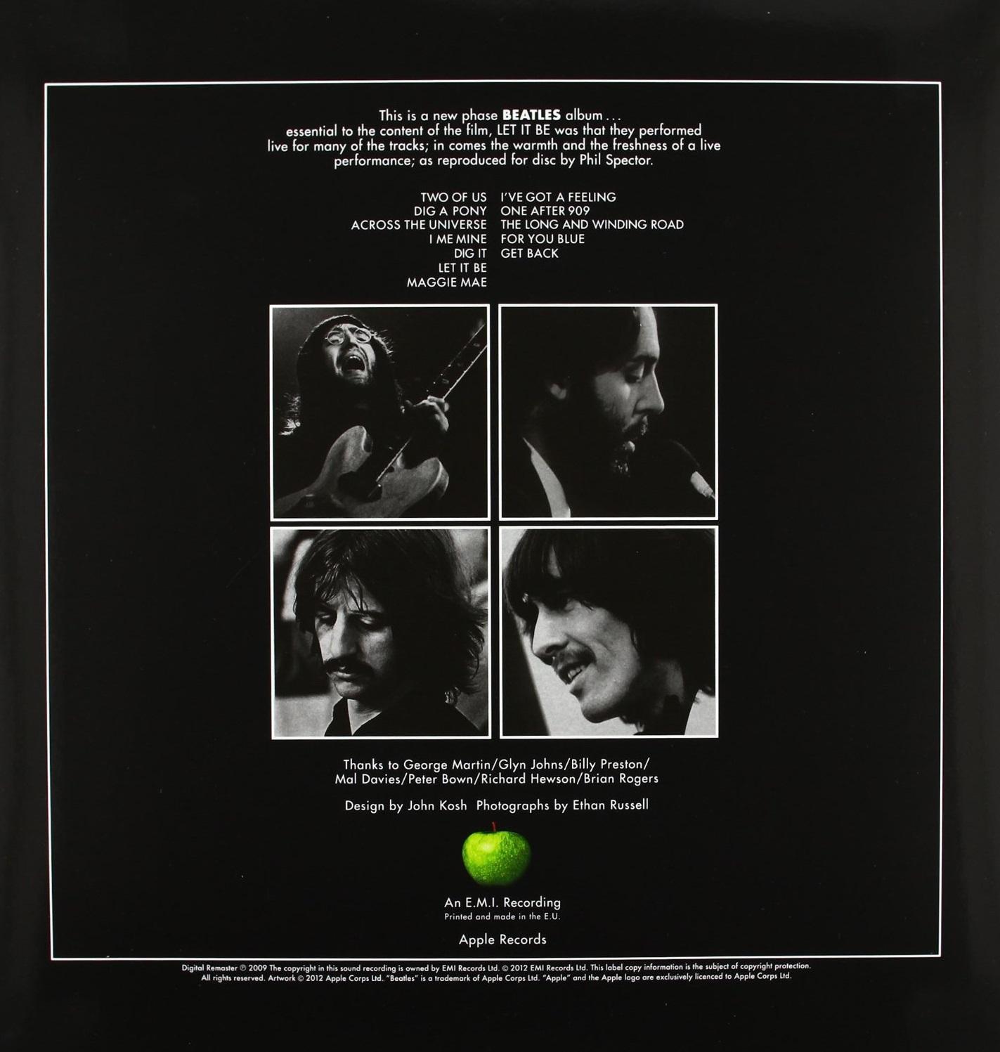 The Beatles Quot Let It Be Quot купить на виниловой пластинке