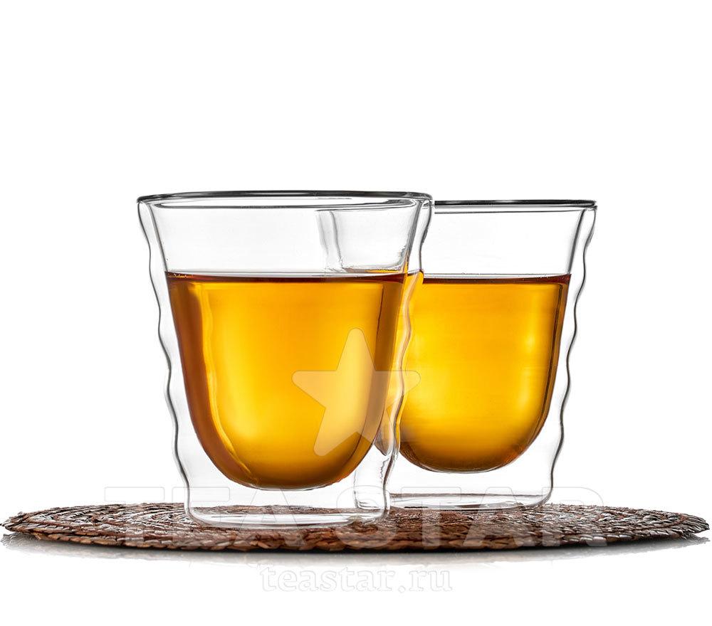 Чашки с двойными стенками Два стакана с двойными стенками, формы Hario, 180 мл hario_dvoynie_stenki_dva_180ml.jpg