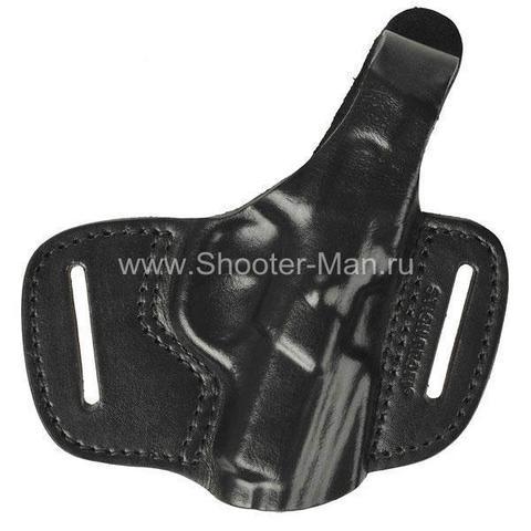 Кожаная кобура на пояс для пистолета Tanfoglio INNA ( модель № 2 ) Стич Профи
