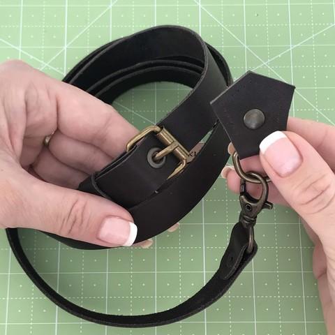 Ремень для сумки  натуральная кожа (темно-коричневый)