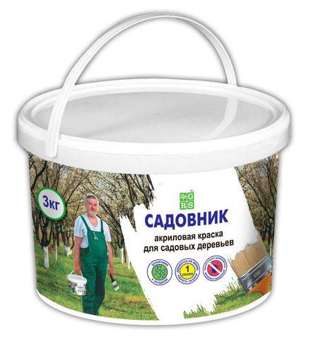 Краска для садовых деревьев Садовник в ведре 3кг