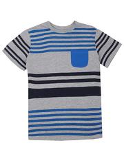 BTS008597 фуфайка детская, серо/синяя