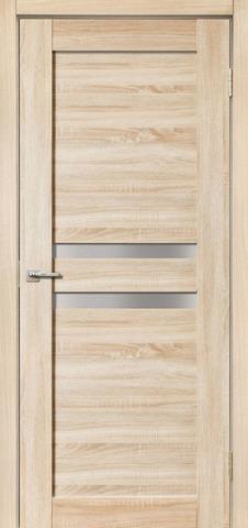 Дверь Дера Мастер 642, стекло белое, цвет беленый дуб, остекленная